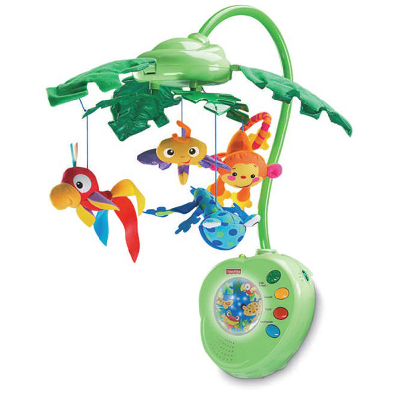 fisher price rainforest peek a boo mobile from fisher. Black Bedroom Furniture Sets. Home Design Ideas