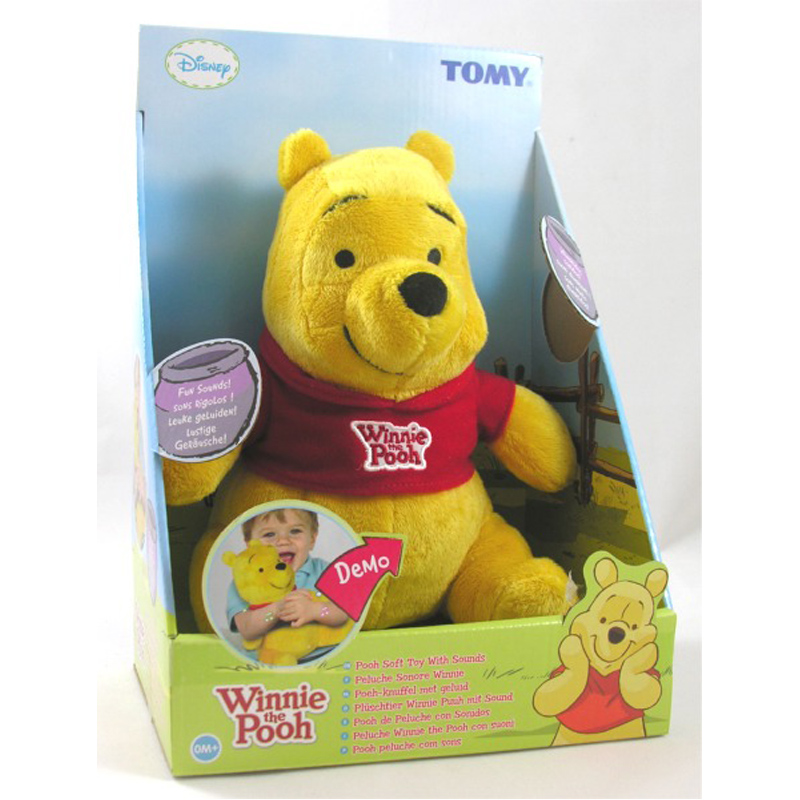 Winnie the Pooh with Sounds Plush from Tomy   WWSM